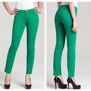 J Brand Emerald Green Skinny Jeans Ankle Length